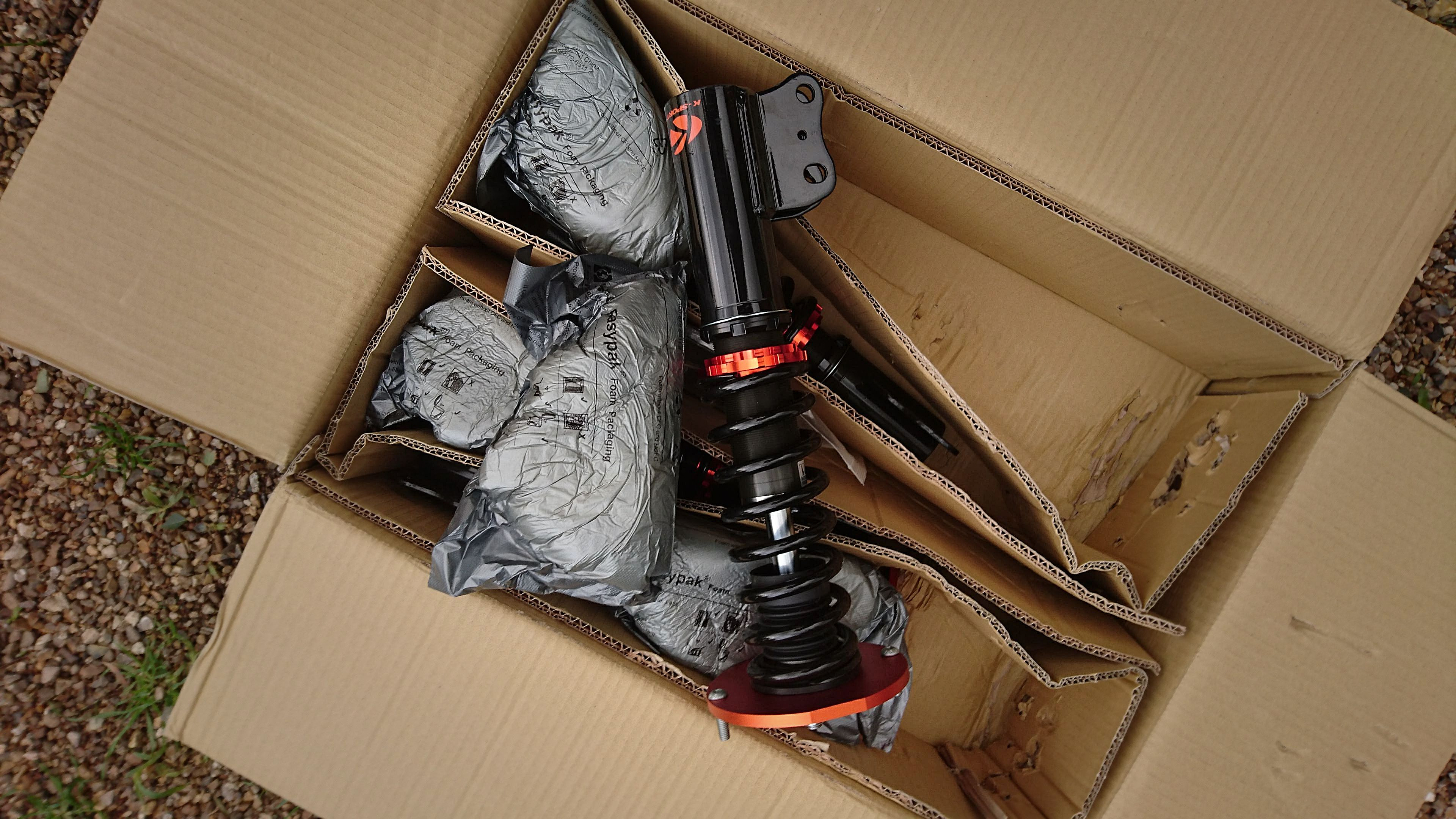 K-Sport coilovers in box