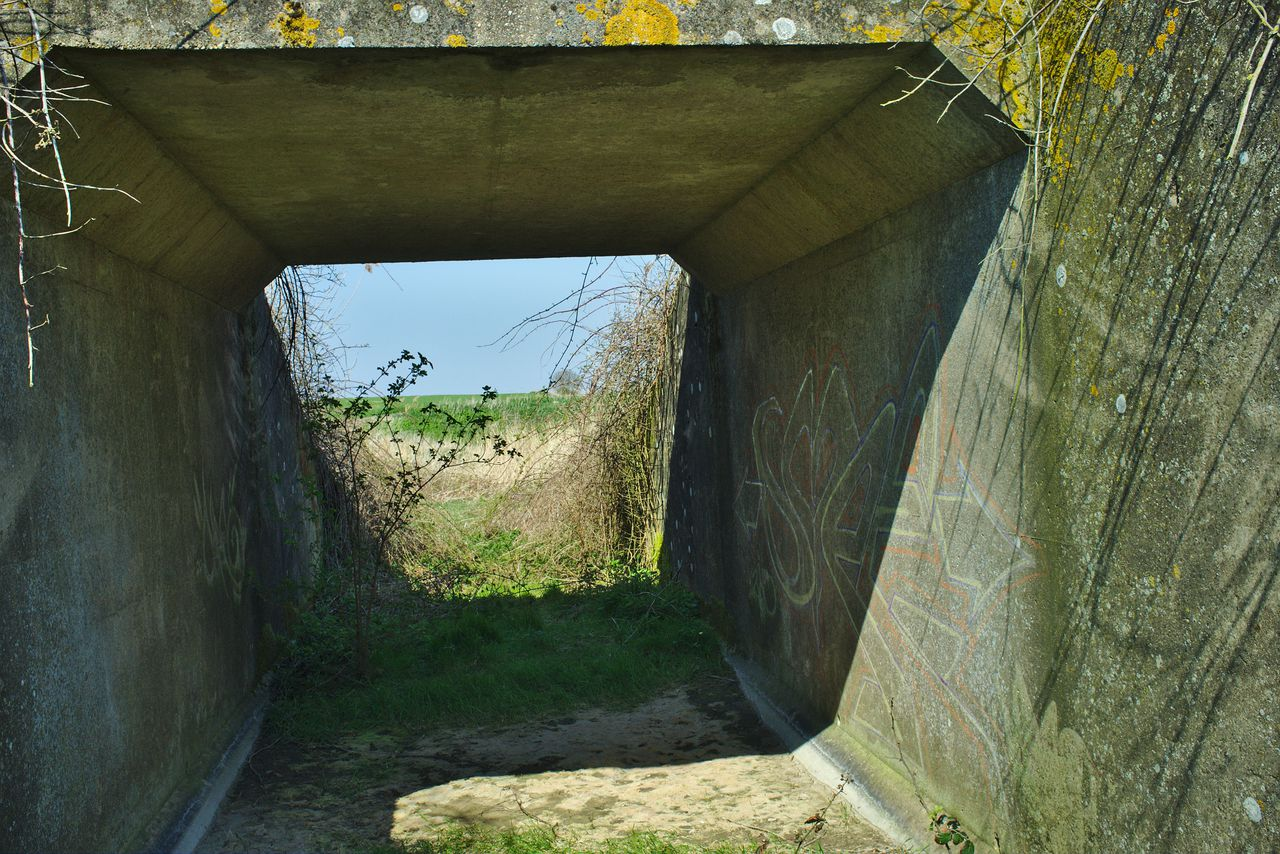 Underneath the bridge, it is apparent that this was not designed for any modern vehicle.