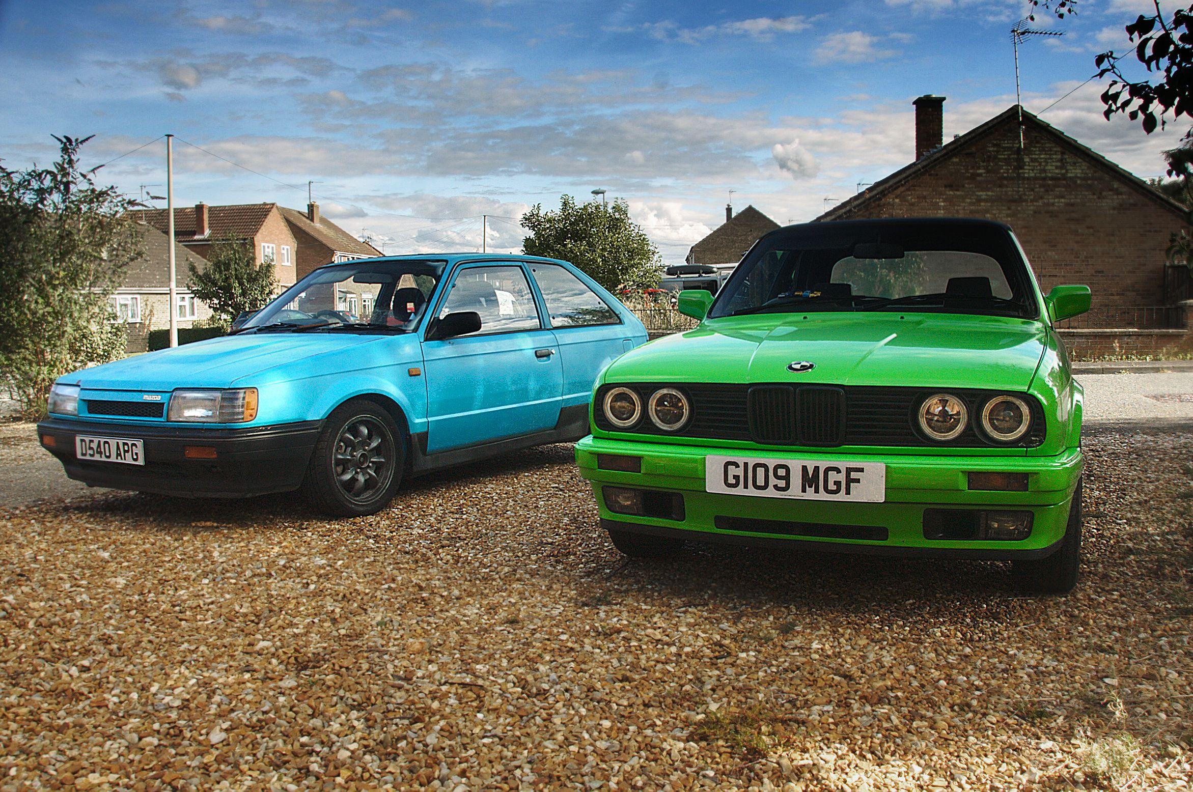 BMW E30 and Mazda 323 GTX