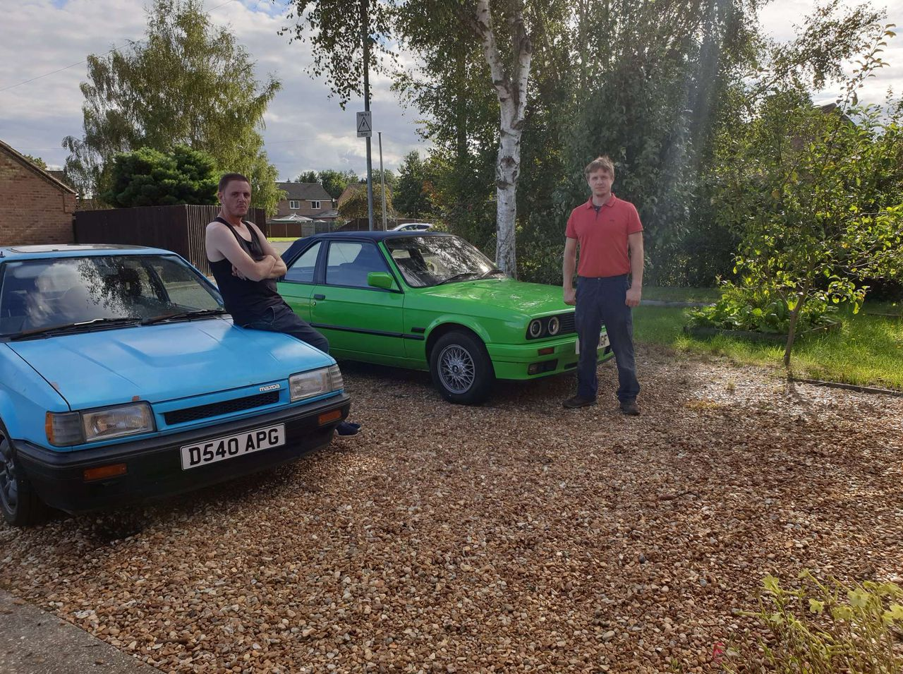 Me and Alex with our respective cars.