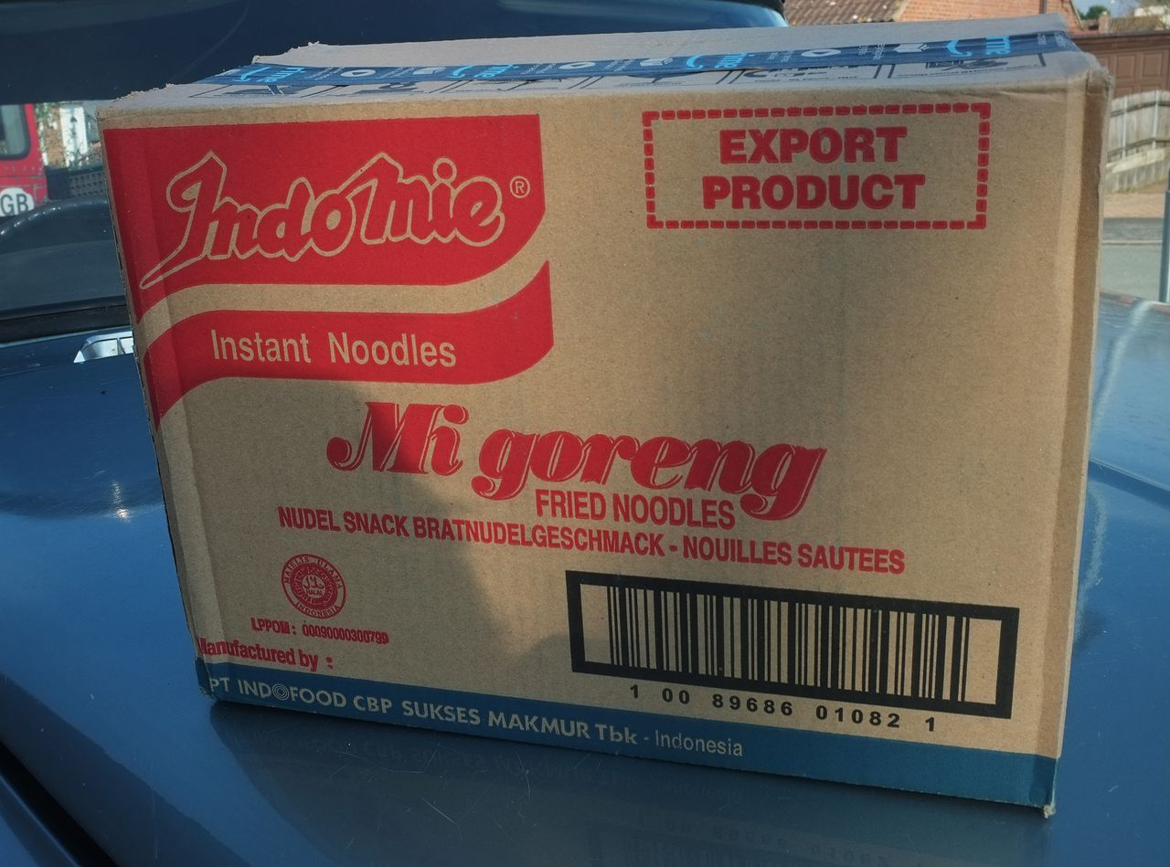 A box of 40 Indomie Mi Goreng instant noodles