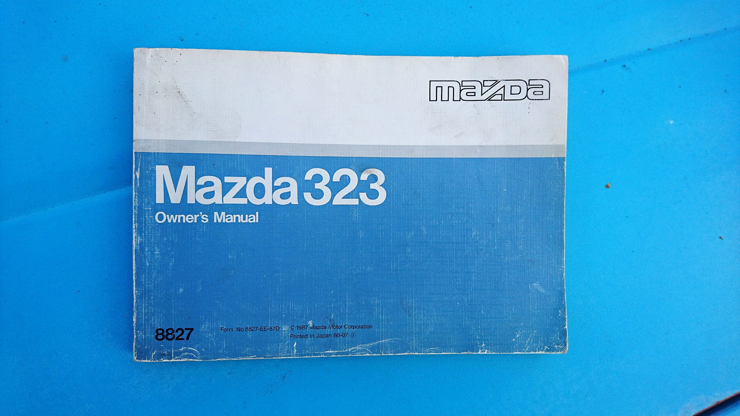 Owner's manual for the Mazda 323 BF