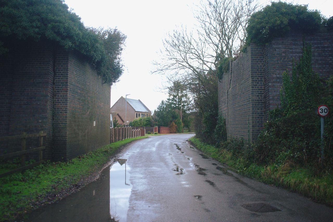 MMR/2333, a pair of bridge abutments in Magdalen, Norfolk