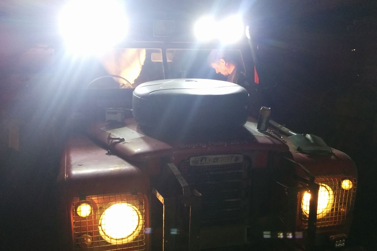 LED light bars, with a useful comparison to the standard headlights