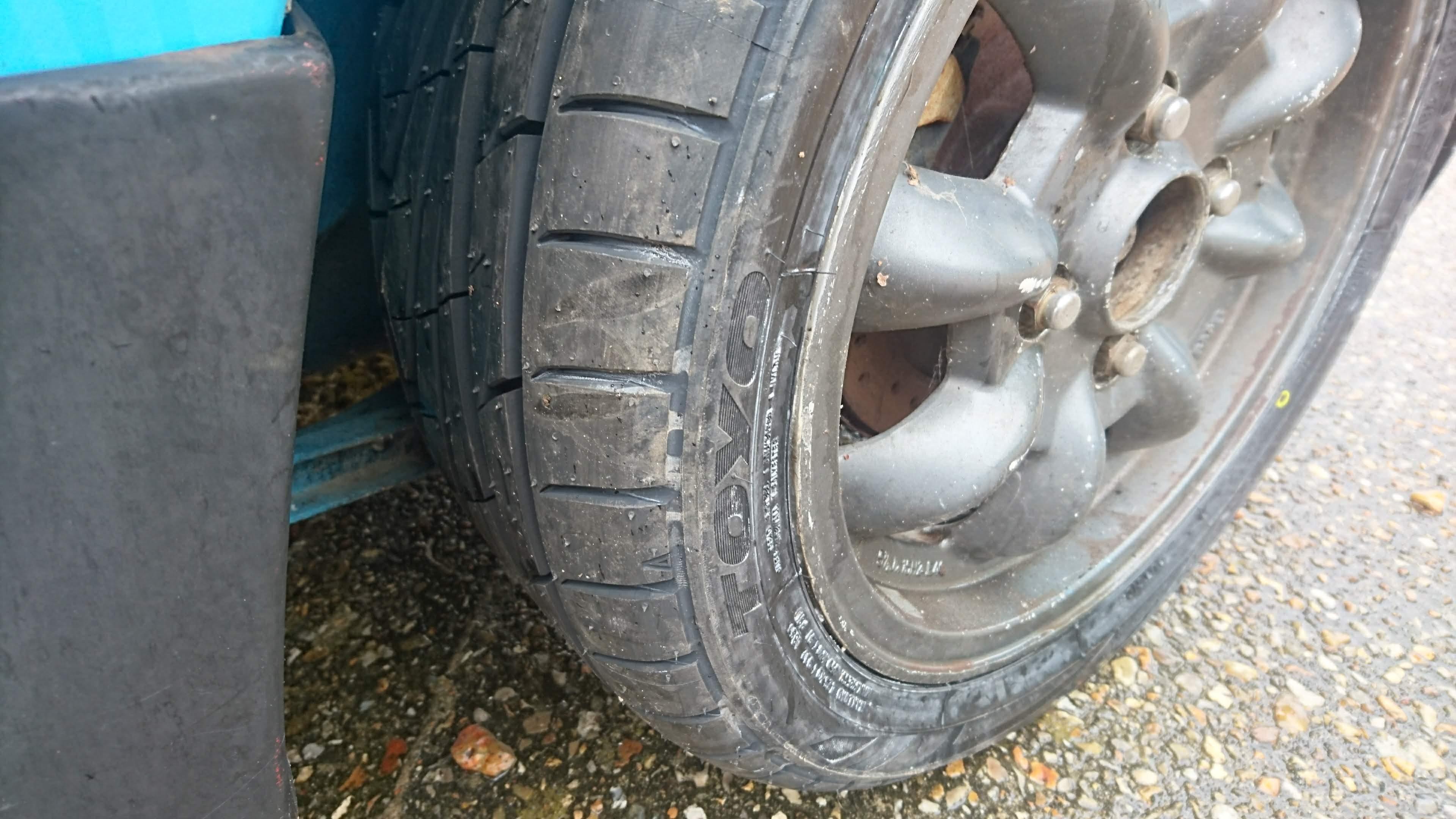 Toyo TR1 tyres on a Mazda 323 GTX